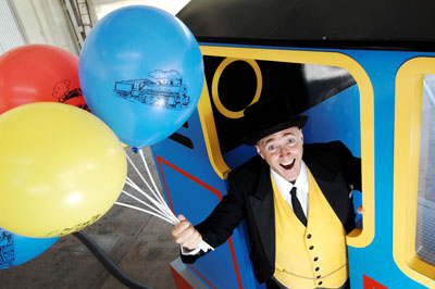 Fat Controller with balloons